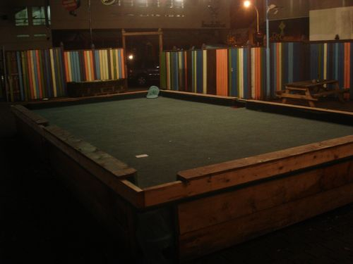 Giant Pool Table at Faktory